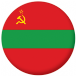 Transnistria State Flag 58mm Button Badge